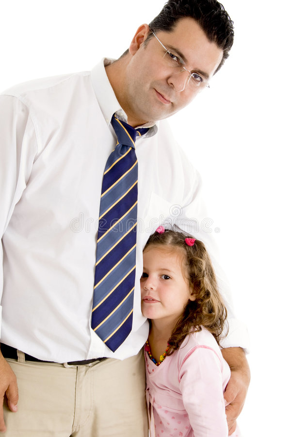 Father And Daughter Posing Stock Photo
