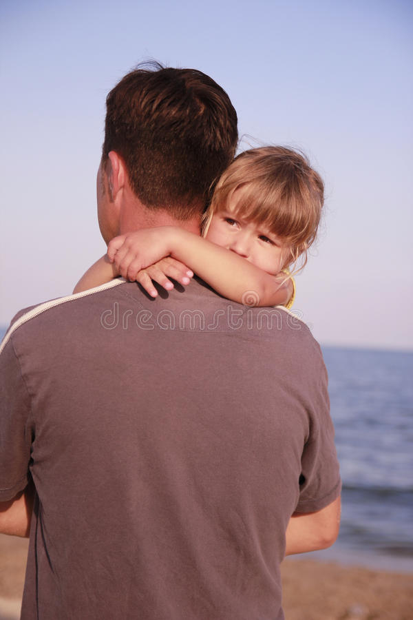 Download Father And Daughter On The Sea Shore Stock Photo - Image: 32202418