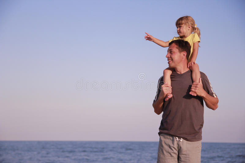 Download Father And Daughter On The Sea Shore Stock Image - Image: 32202713