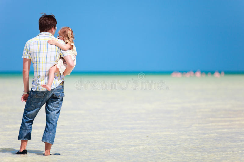 Download Father And Daughter At Shallow Water Royalty Free Stock Photo - Image: 20037425