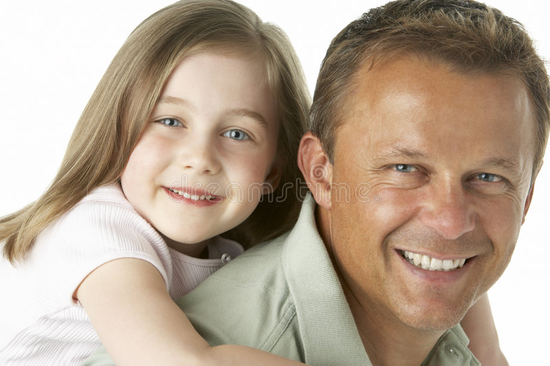 Father And Daughter Smiling royalty free stock photo