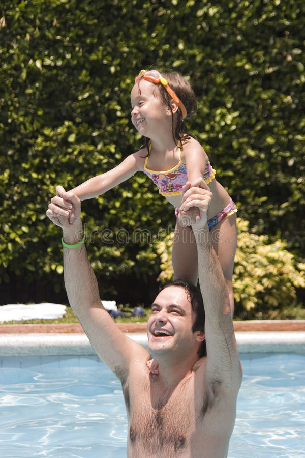 Download Father And Daughter In Swimming Pool Stock Photo - Image: 6274674