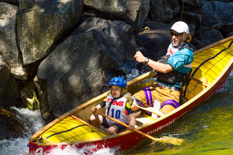 Download Father And Daughter In A Whitewater Canoe Editorial Stock Photo - Image: 33651938