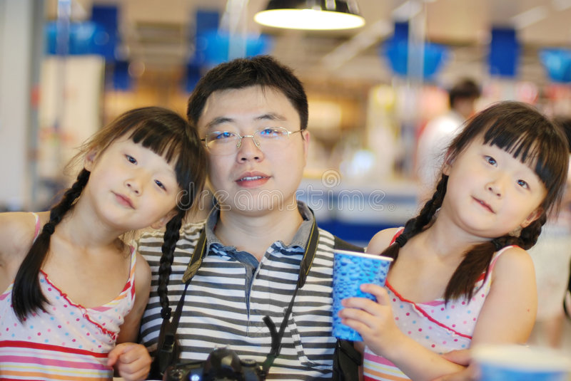 Download Father and daughters stock image. Image of chinese, lovely - 7204397