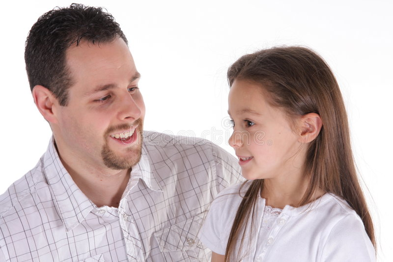 Father and daugther stock image