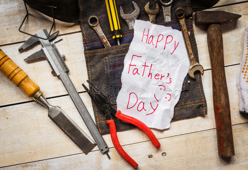 father day card royalty free stock photos