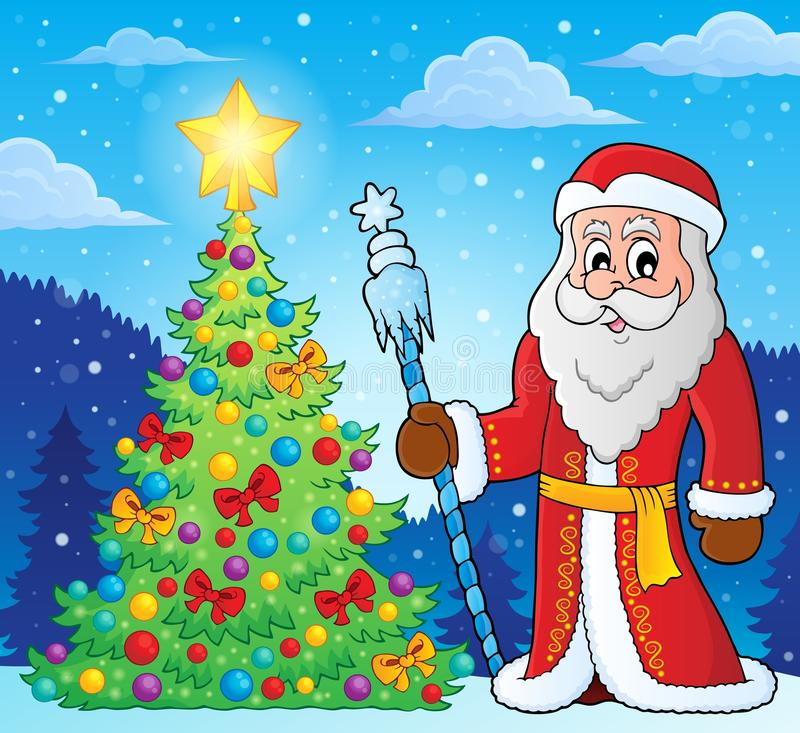 Father Frost theme image 4. Eps10 vector illustration royalty free illustration