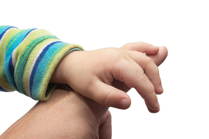 Father giving hand to a child royalty free stock photo