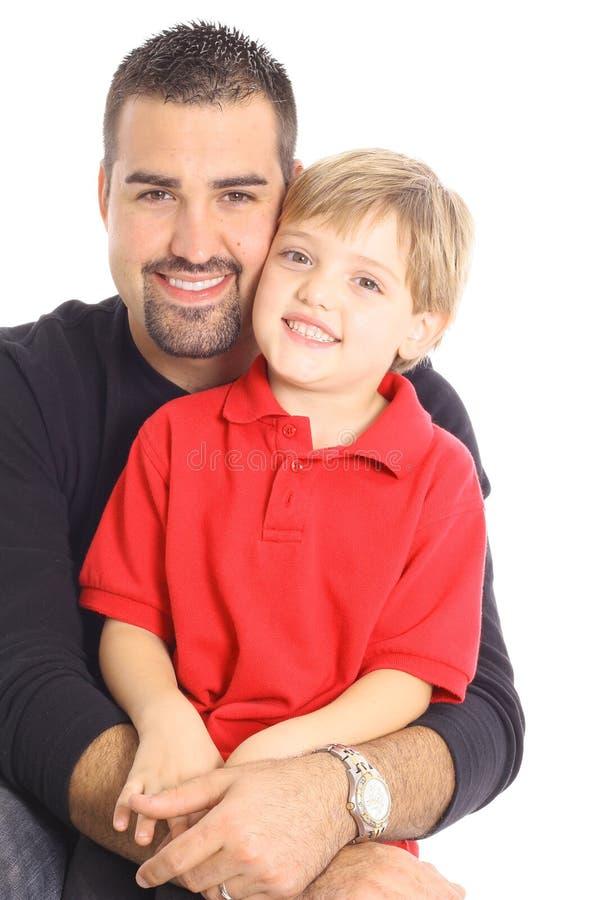 father happy isolated son white στοκ εικόνες