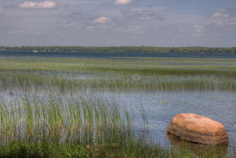 Father Hennepin State Park is located on Mille Lacs Lake in Nort. Hern Minnesota royalty free stock photo