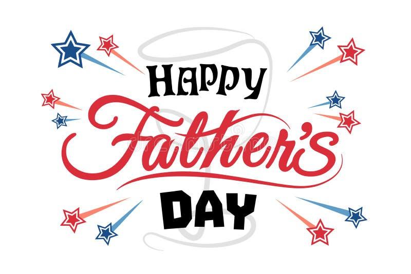 Father' heureux ; illustration de jour de s illustration libre de droits