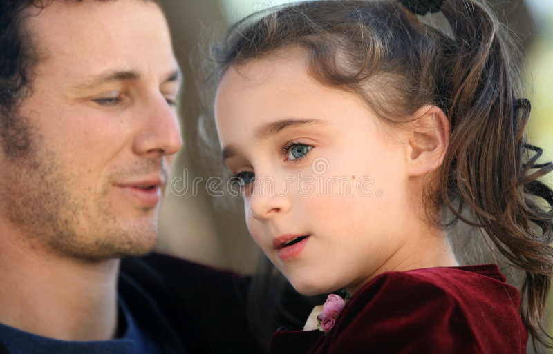 Father and his girl stock photos