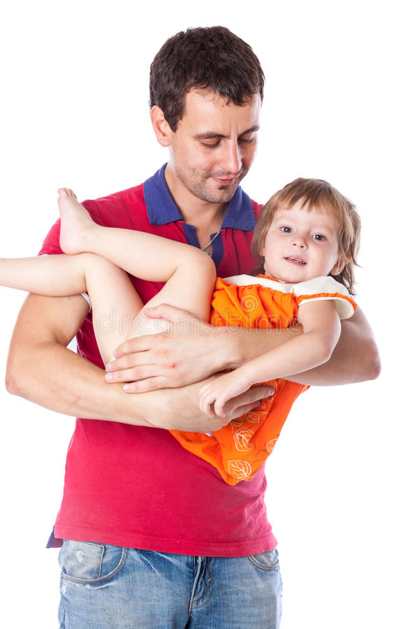 Download A Father Is Holding His Daughter Stock Image - Image: 27214701