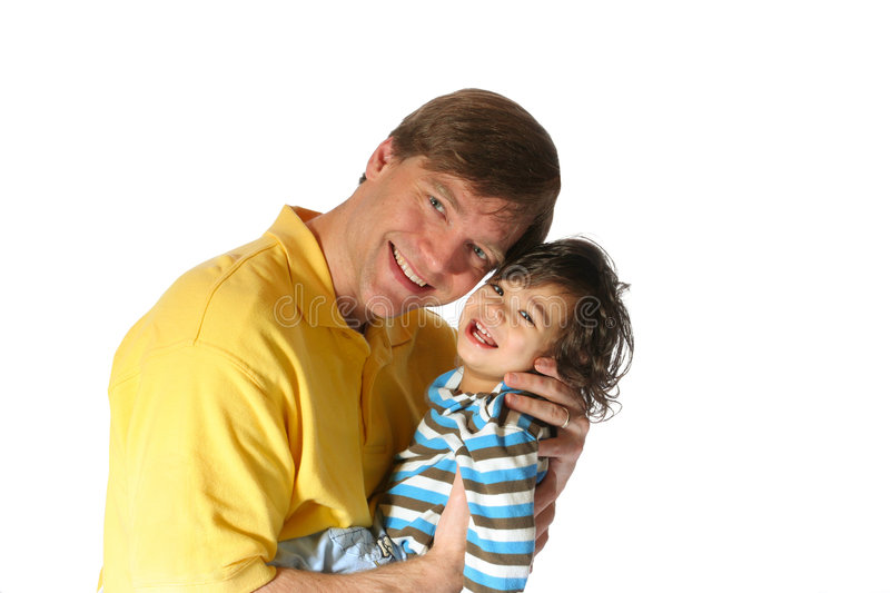 Father holding his toddler son royalty free stock image