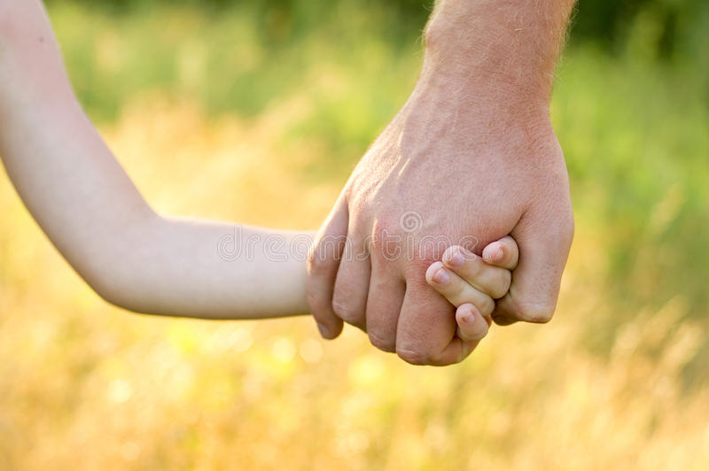 Download Father Lead By The Hand Son Stock Photo - Image of love, help: 14767148