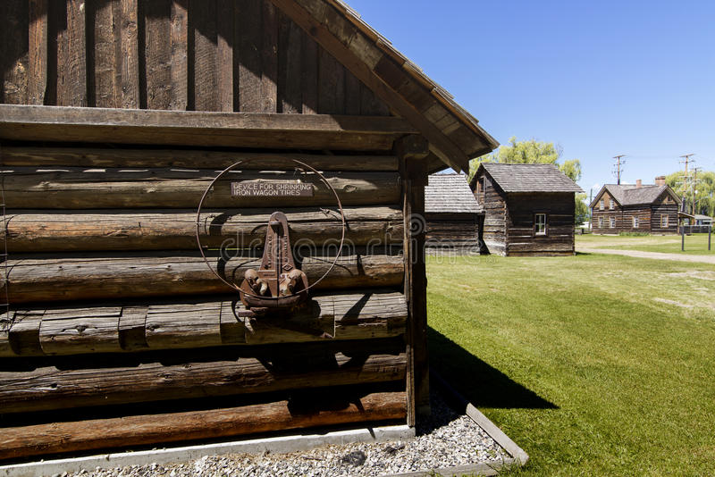 Father Pandosy mission. The first non-native settlement in the Okanagan Valley was a mission established on this site in 1859 by Father Pandosy. Take a self stock image