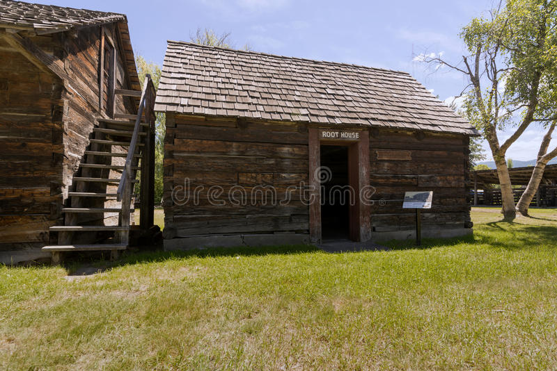 Father Pandosy mission - Root House. The first non-native settlement in the Okanagan Valley was a mission established on this site in 1859 by Father Pandosy royalty free stock photos