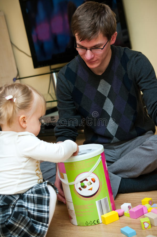 Download Father Playing With Daughter Stock Photo - Image: 22738096