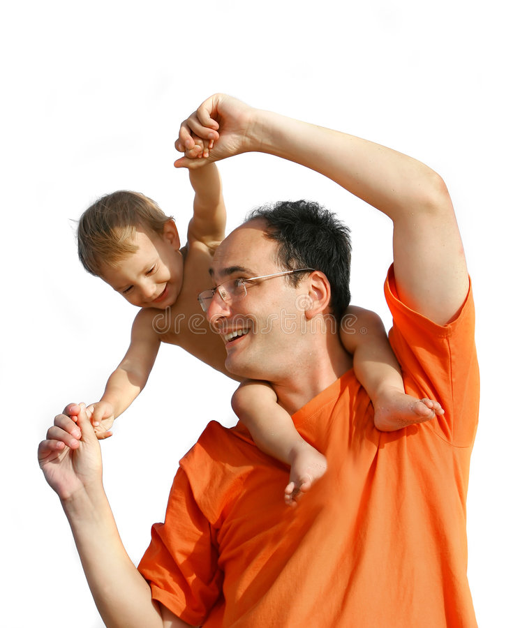 Download Father playing with son stock image. Image of happiness - 5785329