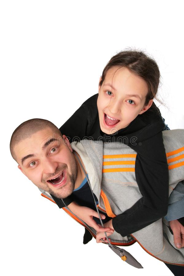 Father plays with daughter 2 royalty free stock image