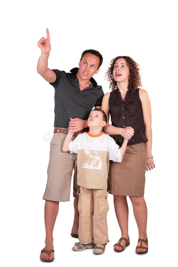 Download Father Pointed Something At  Top Stock Photo - Image: 5720602