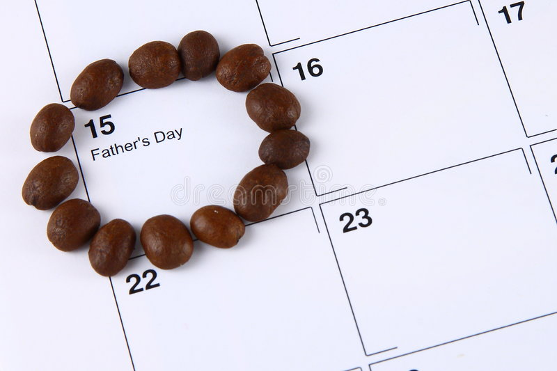 Beans Marking Father S Day On Calendar Stock Images