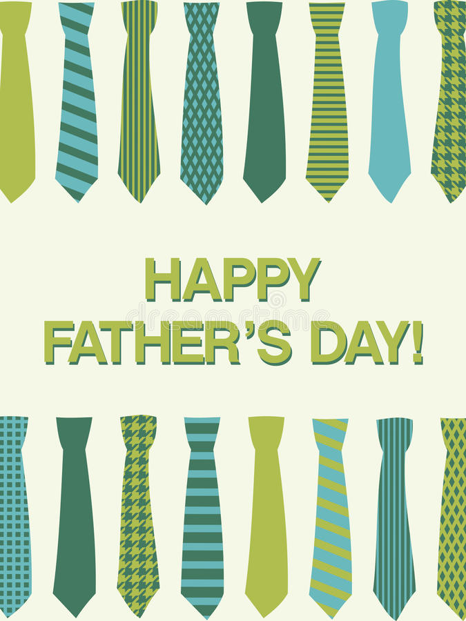 Download Father's Day Card stock vector. Image of design, style - 24917454