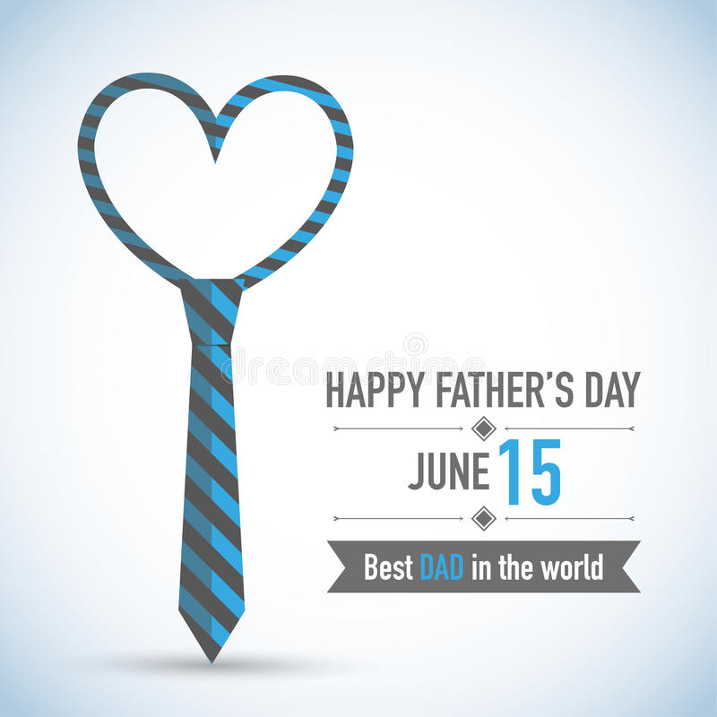 Fathers Day Card Design stock illustration
