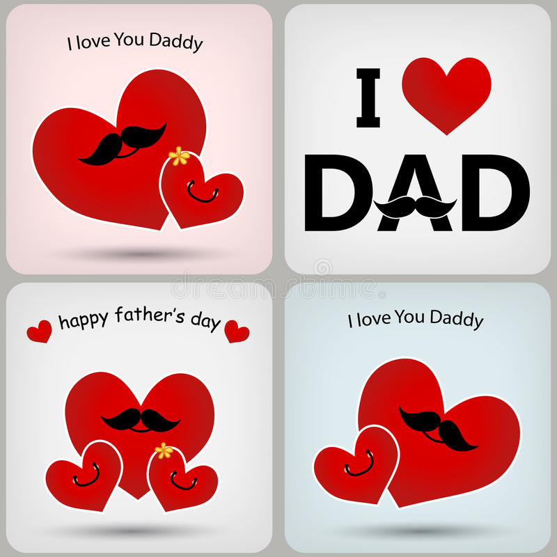 Father's day card. Father's day greeting card with tie stock illustration