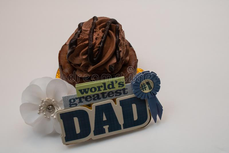 Father`s Day Chocolate Cupcake royalty free stock photo