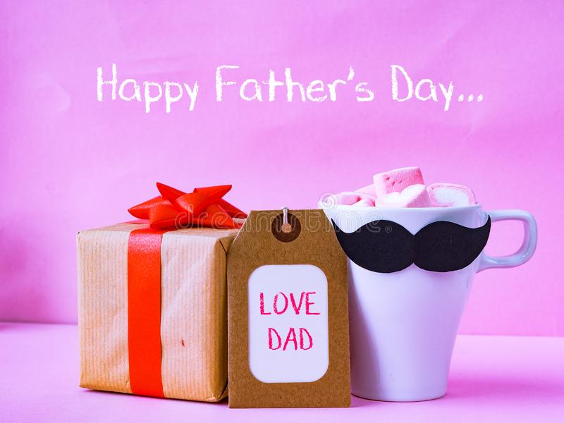 Father`s day concept. LOVE DAD alphabet royalty free stock image