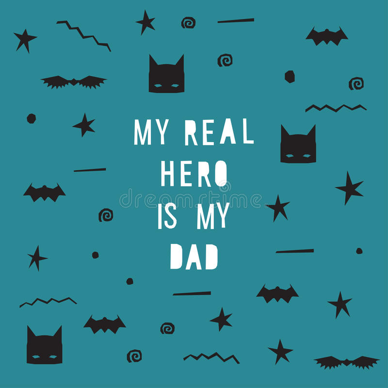 Father's Day hand made card. Father's Day hand made vector card vector illustration