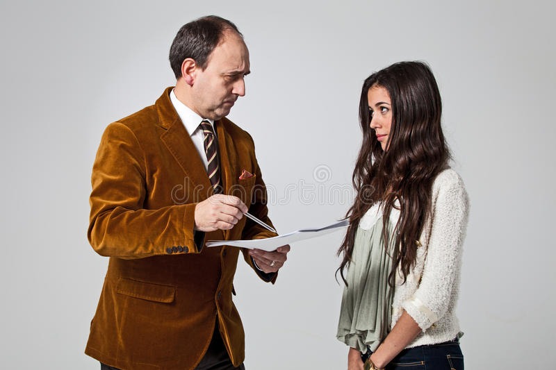 Download Father Scolding His Daughter Stock Photo - Image: 29314890