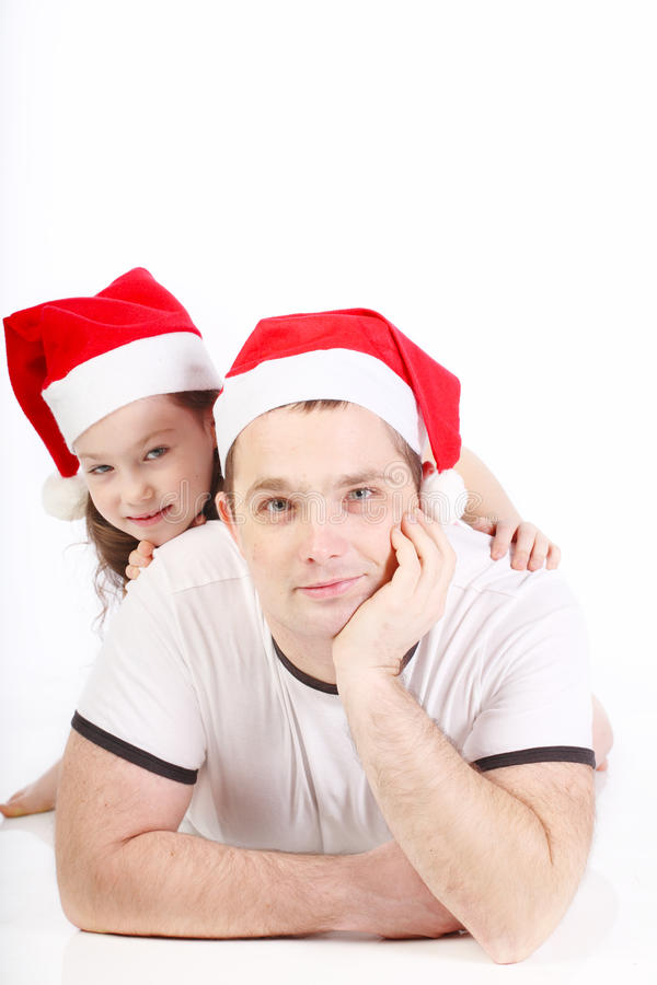 Father and the small daughter royalty free stock image