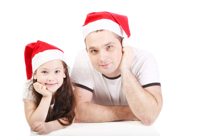 Father and the small daughter royalty free stock images