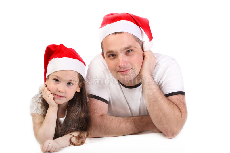 Father and the small daughter stock photo