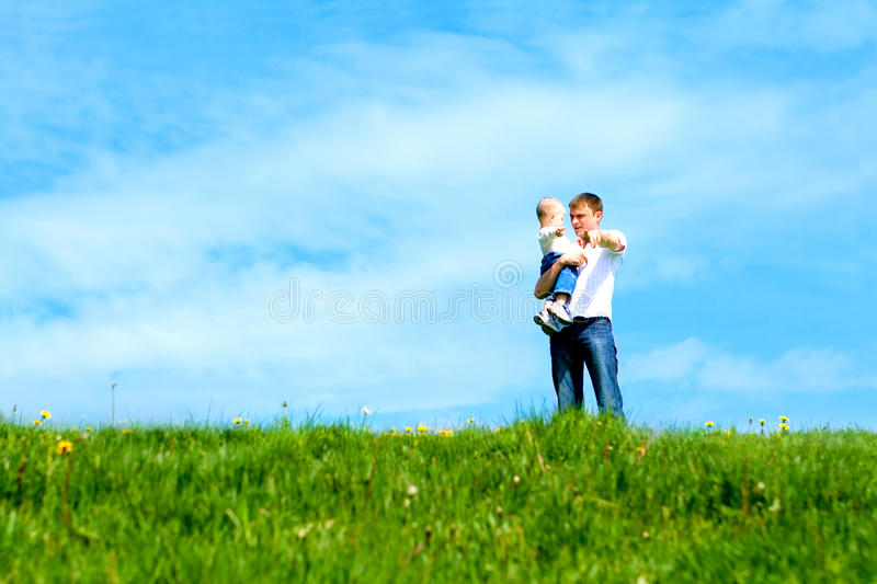 Father with son royalty free stock images