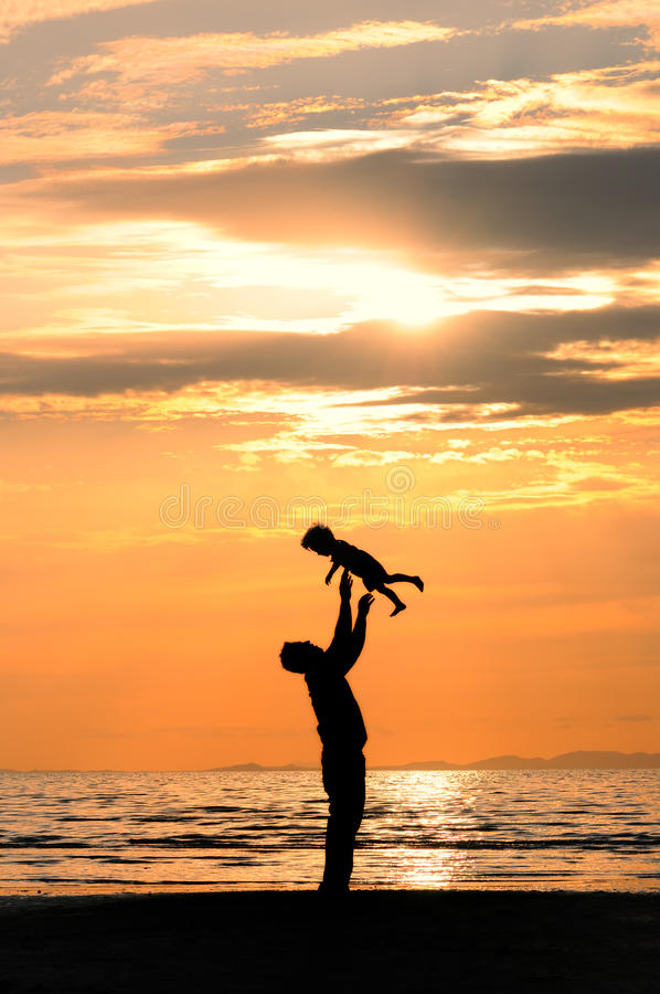 Download Father and son stock image. Image of beach, shore, family - 11396843