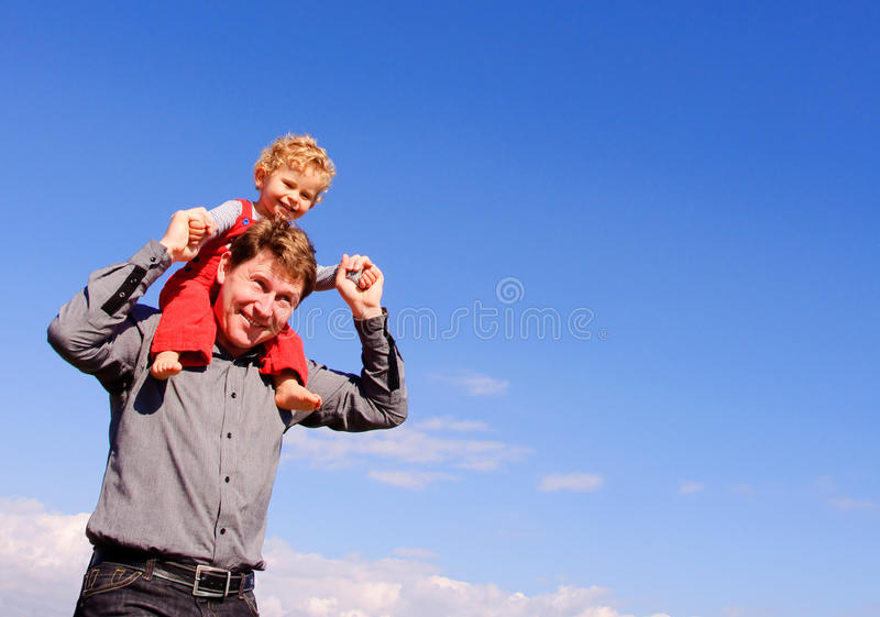 Download Father and son stock photo. Image of carry, holding, blue - 11520860