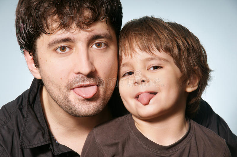 Download Father & son stock photo. Image of handsome, friendly - 11968270
