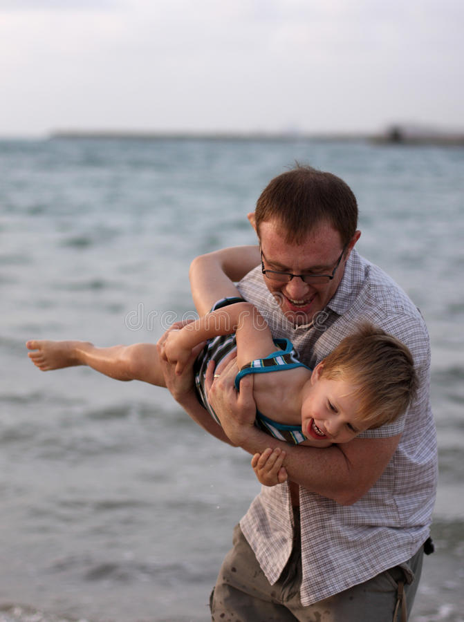 Download Father and son stock image. Image of beauty, beach, parent - 14855883