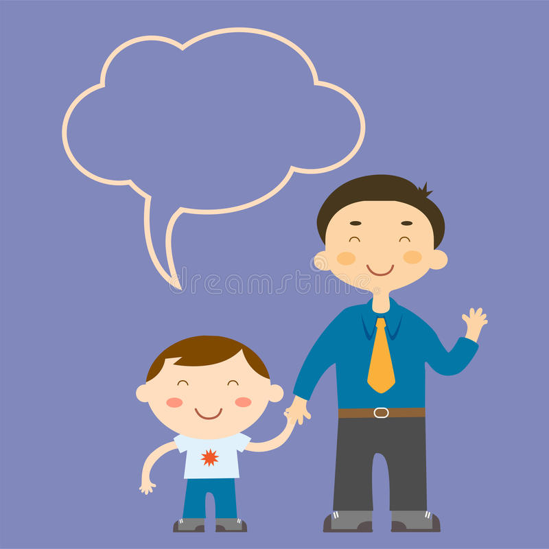 Download Father and son stock illustration. Image of caucasian - 23278409