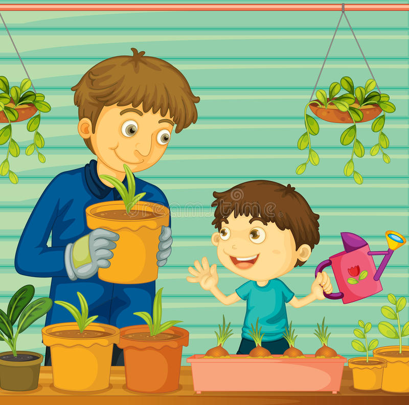 Download Father and son stock illustration. Image of cartoon, comic - 24833353