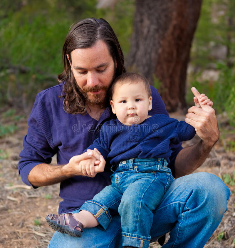 Download Father and son stock image. Image of natural, male, vacation - 26009929