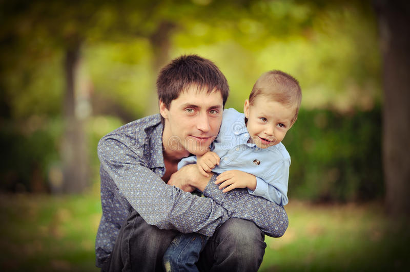 Download The father and the son stock image. Image of playful - 26033909