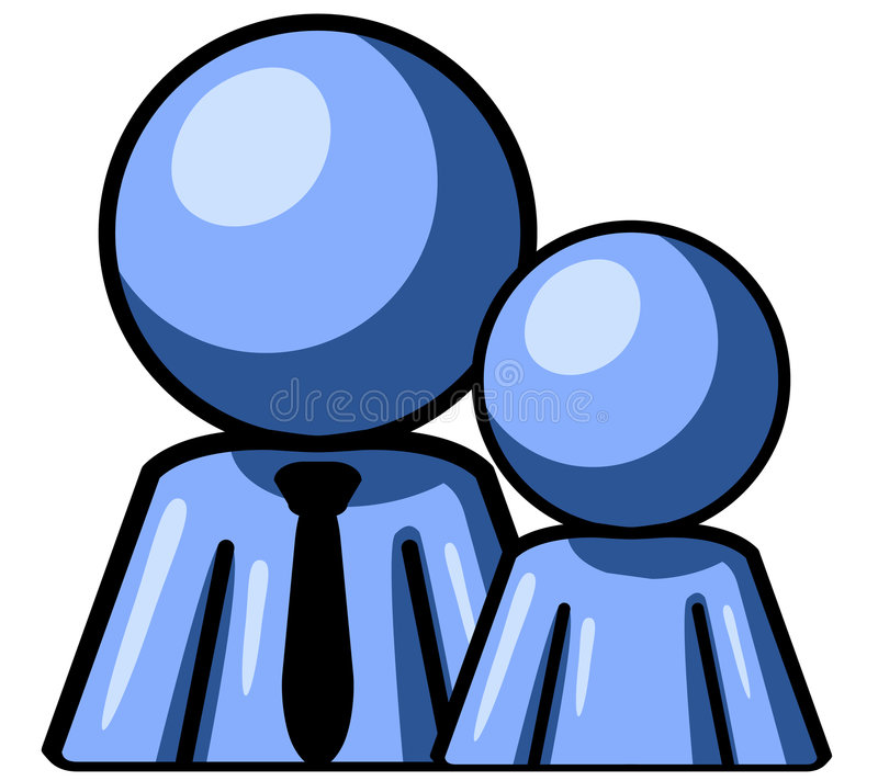Download Father and son stock vector. Image of child, blue, together - 5376940