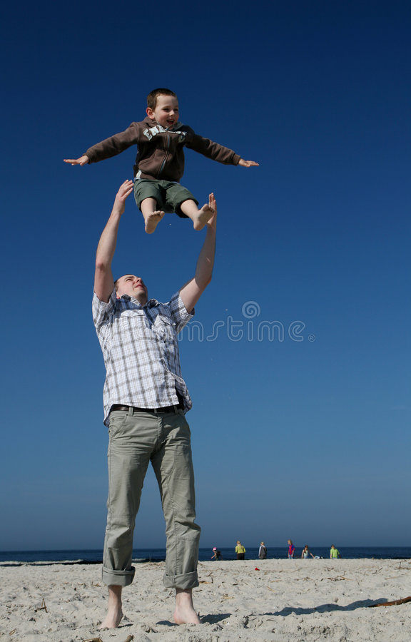 Download Father and son stock image. Image of child, happy, evening - 6186613