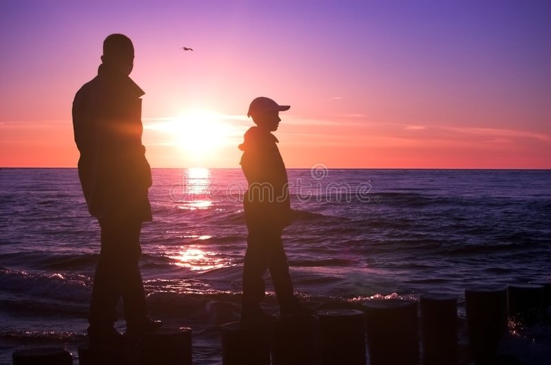 Father with son royalty free stock photos