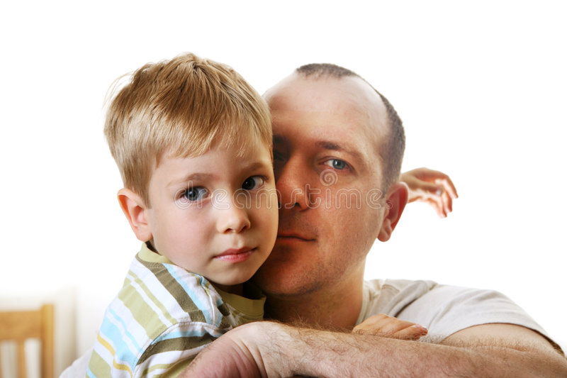 Father and son. Having a quiet moment together stock image