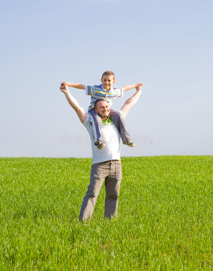 Download Father and son stock photo. Image of hispanic, happy, concept - 9221630